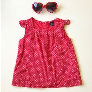 GAP | Red And White Star Blouse | 3T